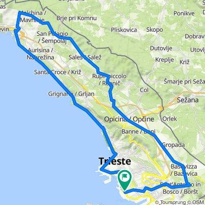 WILIER-Costiera Sist Cerogl Malch Sales Sgonico B Grotta Opicina Trebic Padric Basov Camion Costalunga