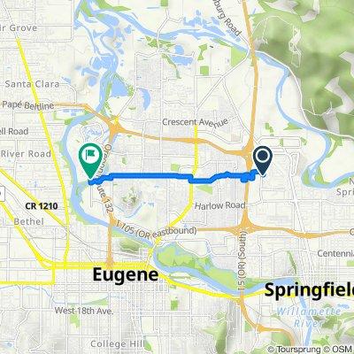 3175 Gateway St, Springfield to Goodpasture Island Rd, Eugene