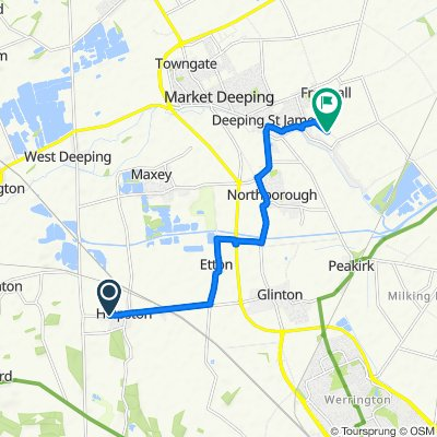49 West St, Peterborough to Back Lane, Deeping St. James, Peterborough