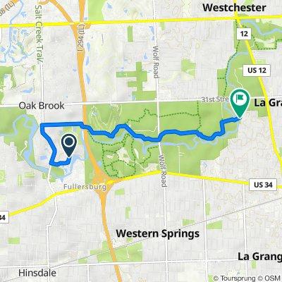 Old Mill Rd, Hinsdale to 900 N Brainard Ave, La Grange Park