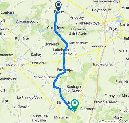 De Rue d'Arvillers 18, Erches à Rue du 4E Zouaves 13, Orvillers-Sorel