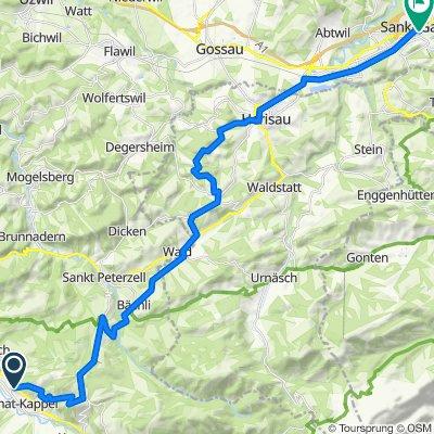 Berglistrasse 45, Ebnat-Kappel nach Gallusstrasse, St. Gallen