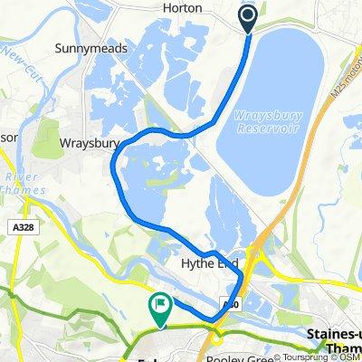 1 Stanwell Road, Horton, Slough to 68 Runnemede Road, Egham