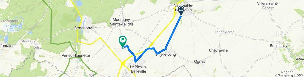 De Rue Jean Ferrat 8, Nanteuil-le-Haudouin à L'Aviation, Ermenonville