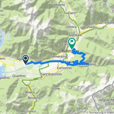 Via Campeggio 1, Cugnasco nach Via San Giovanni 9, Bellinzona
