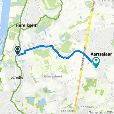 Bosstraat 24, Hemiksem naar Leugstraat 165, Aartselaar