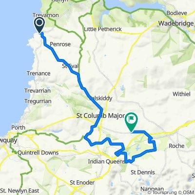 Route to Castle Road, Castle An Dinas, St Columb