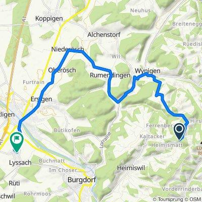 Grand Tour of Switzerland, Kaltacker nach Hausmatte 53, Lyssach