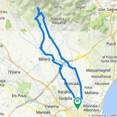 Valencia-Mirador de a Pedrera-Cartuja de Portacoeli