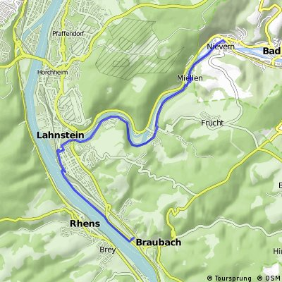 Tagestour an der Lahn und Rhein