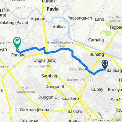 Ilang-ilang 19, Iloilo City to Felix Gorriceta Jr. Avenue, Pavia