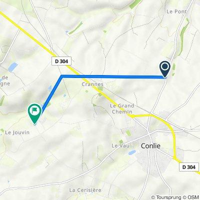 De Rue de Neuvillalais, Conlie à Bréteau, Tennie