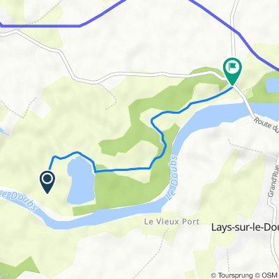 Itinéraire vers D203, Lays-sur-le-Doubs