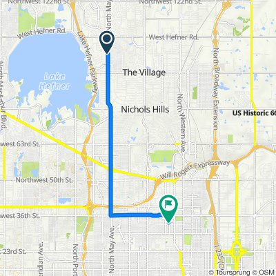 10109 N May Ave, The Village to 3400–3460 N McKinley Ave, Oklahoma City