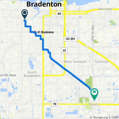 927 25th St W, Bradenton to 5124 15th Street Ct E, Bradenton