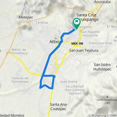 De Boulevard Doctor y General Rafael Moreño Valle 984–990, Atlixco a Calle América 42, Atlixco