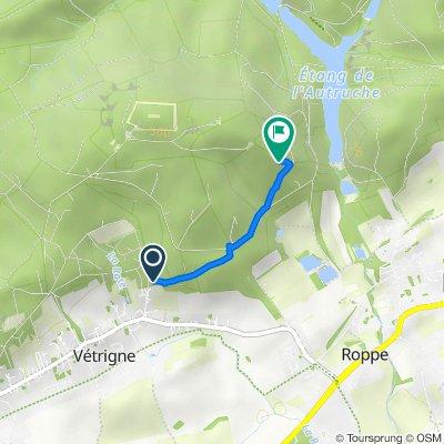 Itinéraire à partir de 10 Rue de la Fontaine, Roppe