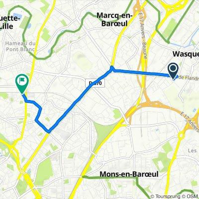 De 60 Avenue de Flandre, Wasquehal à 1bis Place de la Gare, La Madeleine