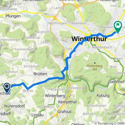 Brunnackerstrasse 3, Nürensdorf nach Im Link 5, Winterthur
