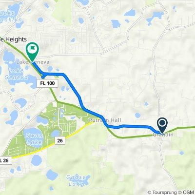 Palatka-Lake Butler State Trail, Melrose to Palatka-Lake Butler State Trail, Keystone Heights