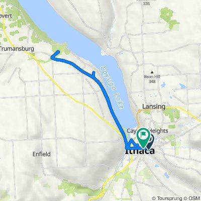 214 Linden Ave, Ithaca to 507 E Buffalo St, Ithaca