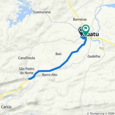 De Rua B, 225, Iguatu a Avenida Marechal Castelo Branco, 947, Iguatu