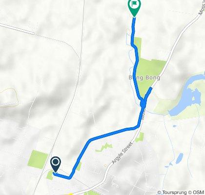 Route from 24B Koyong Close, Moss Vale