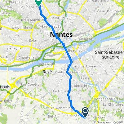 De3 Rue Henri Matisse, Les Sorinières à 1 Rue Hector Berlioz, Nantes