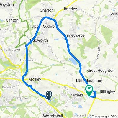 Bradbury Balk Lane, Wombwell, Barnsley to 2 Howard St, Barnsley
