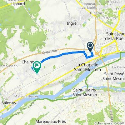 De 1 Rue Montaigne, La Chapelle-Saint-Mesmin à 58 Rue de l'Épine, Chaingy