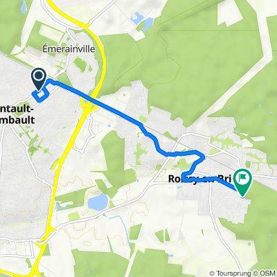 De 31 Avenue de la République, Pontault-Combault à 31 Avenue Camille Saint-Saëns, Roissy-en-Brie
