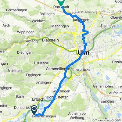 Ersinger Straße 34, Erbach nach Kirchplatz 1, Dornstadt