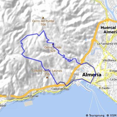 Almeria - Camino de Enix - Bajada por Camino Romano