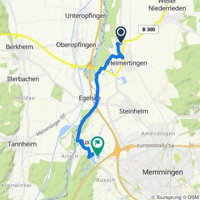 Wiesenstraße 9, Heimertingen nach Buxacher Straße 3, Buxheim