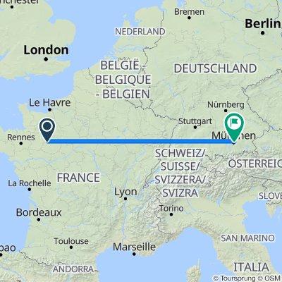 Route nach Dellauerweg 4, München