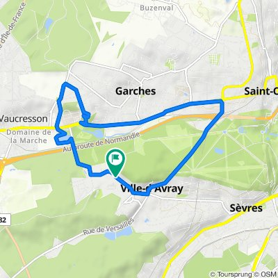 De 39 Rue de Marnes, Ville-d'Avray à 37A Rue de Marnes, Ville-d'Avray