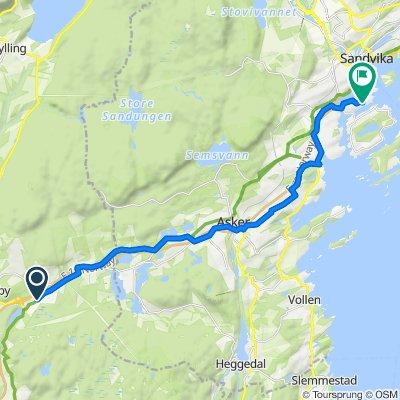 Drammensveien, Lierskogen to Øverbergveien 24E, Nesøya