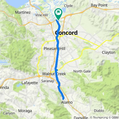 Solano Way 1651, Concord to Arnold Industrial Place, Concord