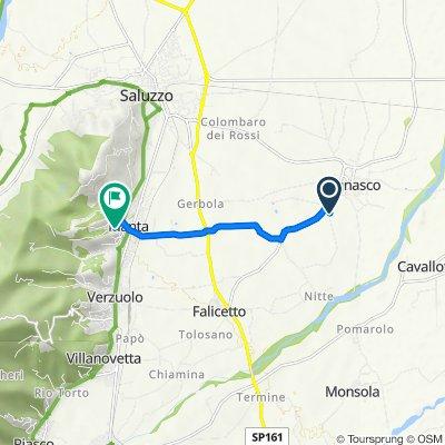 Da Via Mattone, Lagnasco a Via De Rege Thesauro Frances, Manta