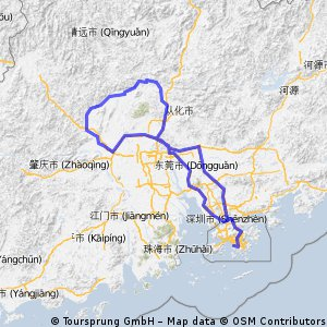 Cycling Routes And Bike Maps In And Around Shenzhen Bikemap - Zhaoqing map