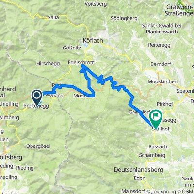 Preitenegg - Pack - Hirzmannsperre -Langmannsperre -Unterwald-Sommereben - Stainz