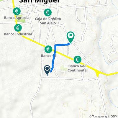 De Avenida Latino, San Miguel a Calle Carranza, San Miguel