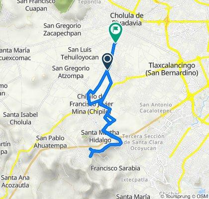 De Avenida Hombres Ilustres 8, San Andrés Cholula a Calle 19 P 1129, Cholula de Rivadabia