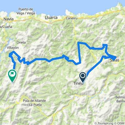 Tineo-Bustantigo. 3400m en 120km