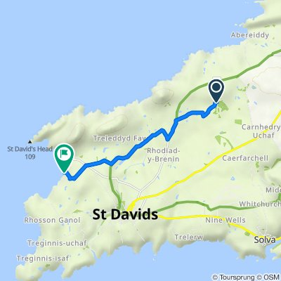 Route to Wales Coast Path, Whitesands, St Davids, Haverfordwest