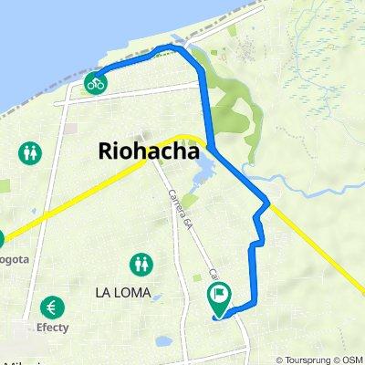 De Carrera 6b 3540, Riohacha a Carrera 6b 3536, Riohacha