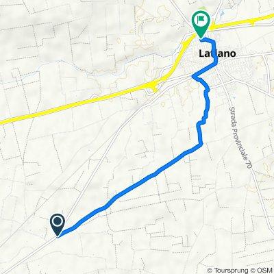 Da Viale Cotrino, Latiano a Via Armando Diaz 203, Latiano