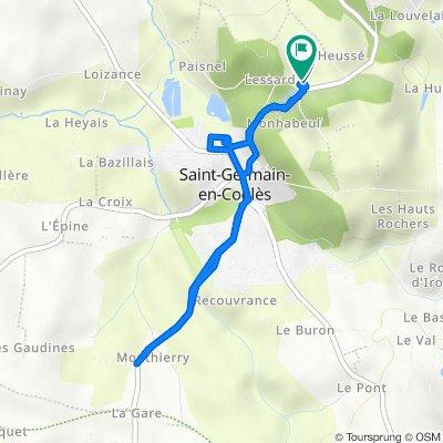 De 9 La Chevetelais, Saint-Germain-en-Coglès à 9 La Chevetelais, Saint-Germain-en-Coglès