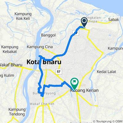 Taman Bendahara, Pengkalan Chepa to Asian Highway 18, Kota Bharu