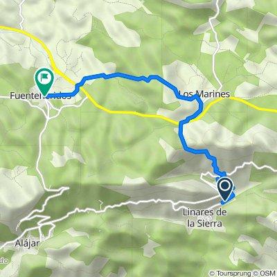 De HU-8105, Linares de la Sierra à Calle Arrecife 5, Fuenteheridos